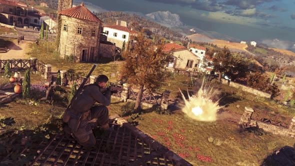 Sniper Elite 4 explosion