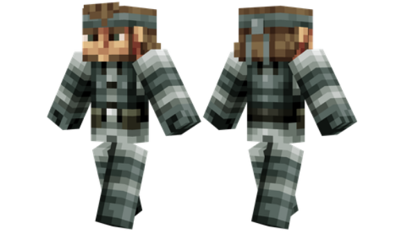 best minecraft skins Solid Snake