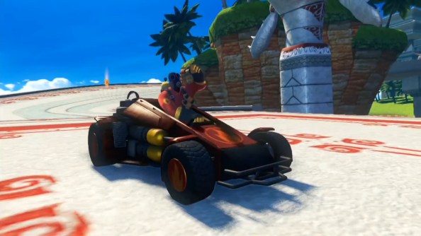 See TF2's Pyro drive a kart in Sonic & All-Stars Racing Transformed