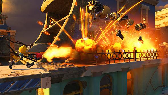 The flamethrower Wispon, wielded by a custom hero