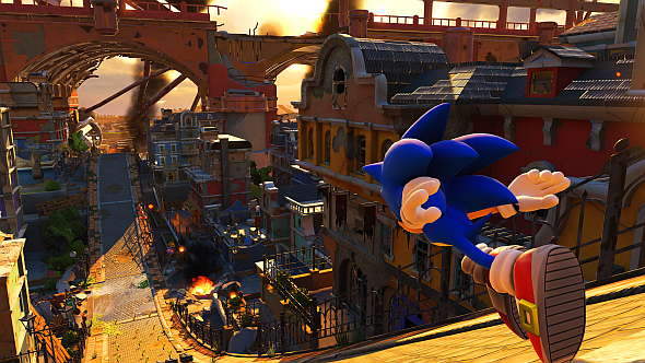 Modern Sonic's sections make a decent go at 3D