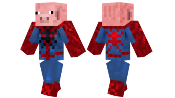 best minecraft skins Spider-Pig
