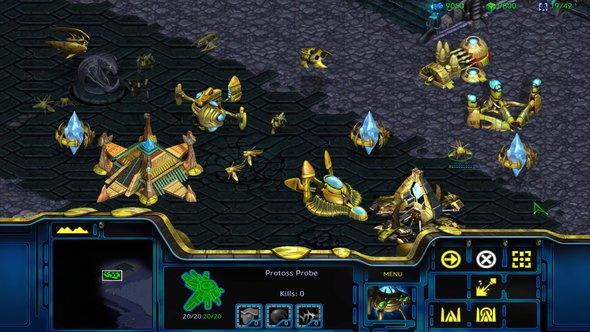 StarCraft Remastered Protoss Screen