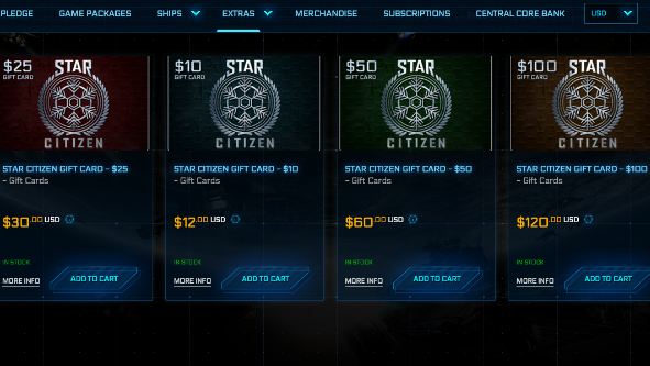 Star Citizen $50 gift card