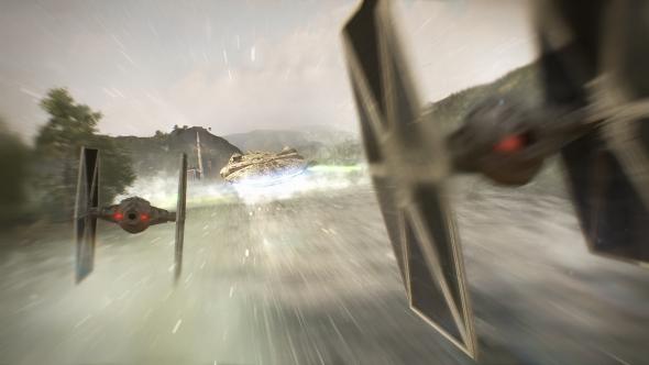 Star Wars Battlefront 2 TIE Fighters