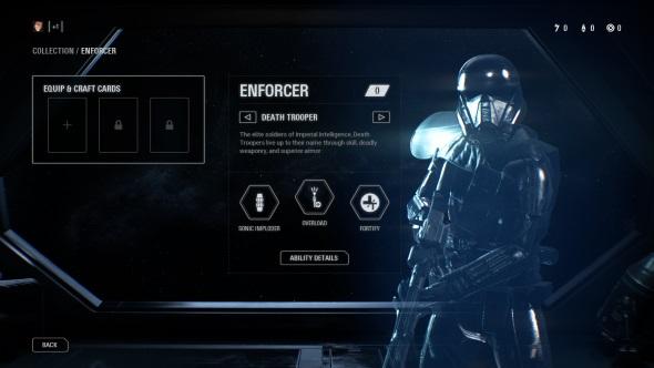 Star Wars Battlefront 2 classes Enforcer Death Trooper