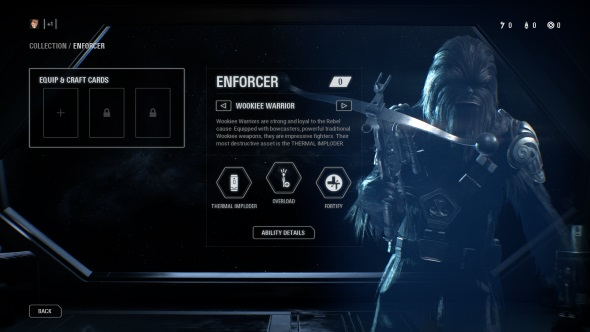 Star Wars Battlefront 2 classes Enforcer Wookiee Warrior