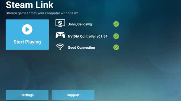 Steam Link app setup