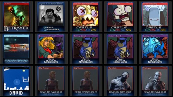 Steam Trading Cards, trading cards