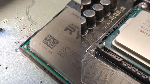AMD and Intel CPU orientation indicators