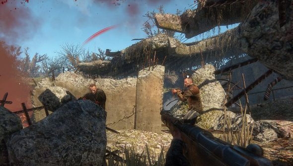 Two men shoot at each other in Survarium