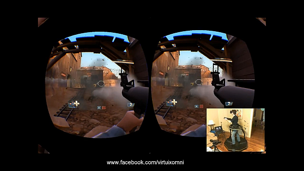 Watch Team Fortress 2 being played with Oculus Rift and omni treadmill