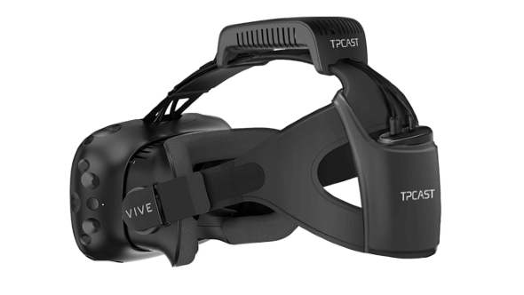 Vive with wireless TPCast adapter