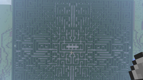 Maze from The Shining recreated in Minecraft... but the hotel can't be