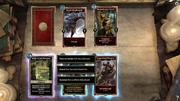 Elder scrolls card game