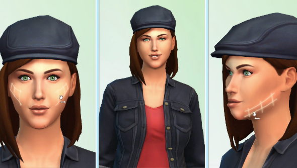 the sims 4 character creator lets you pinch and trim every little