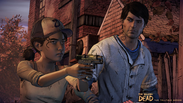 The Walking Dead season 3 Clem and Javier