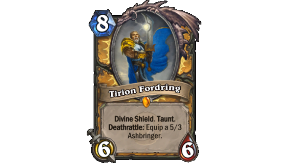 Best Hearthstone Legendary cards Tirion Fordring