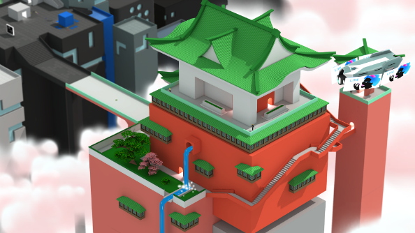 Tokyo 42 gameplay demos sneaky tilt-shifted public assassinations