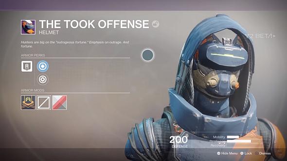 Took Offence helmet