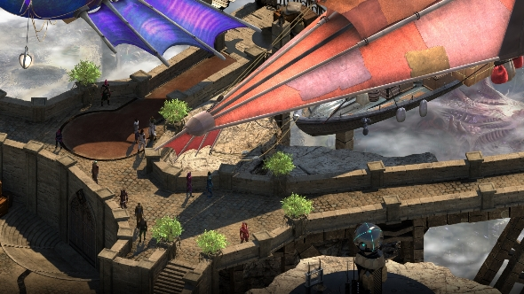 Torment Tides of Numenera airships