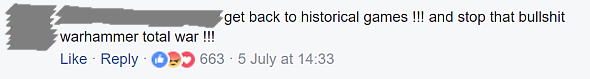 On the announcement of an historical game: \