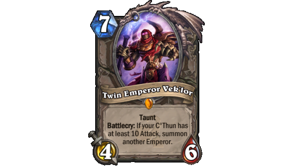 Best Hearthstone Legendary cards Twin Emperor Vek'lor