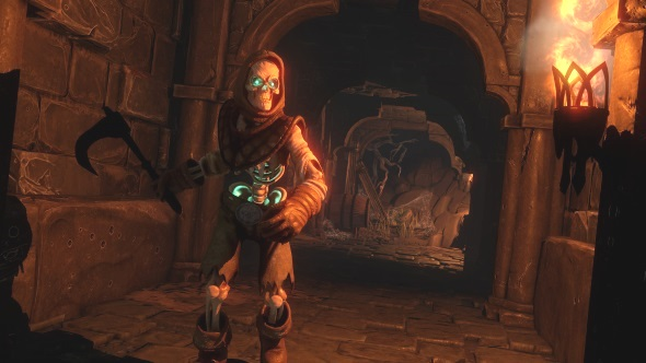 Underworld Ascendant skeleton in hallway