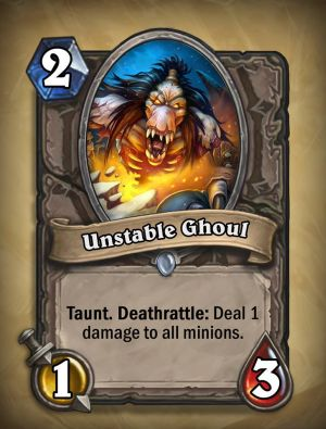 Unstable Ghoul Hearthstone Card