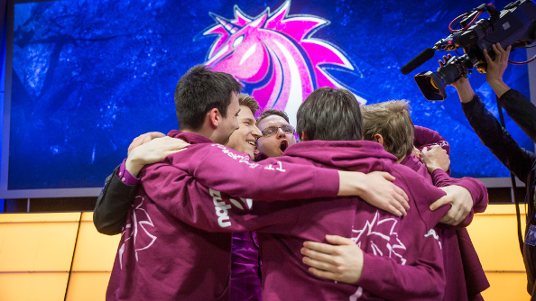 The Unicorns of Love celebrate their victory