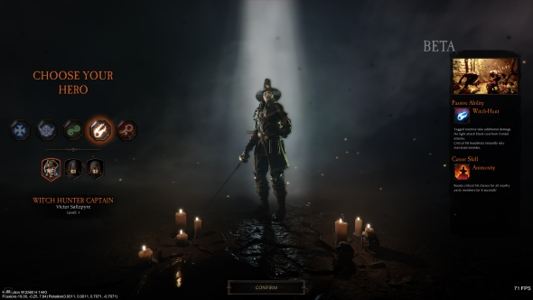 Vermintide 2 careers Victor Saltzpyre Witch Hunter