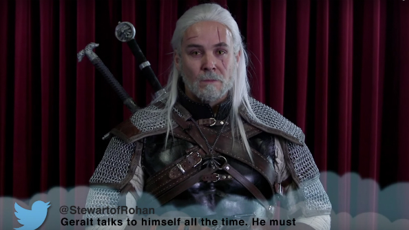 Videogame characters read mean tweets