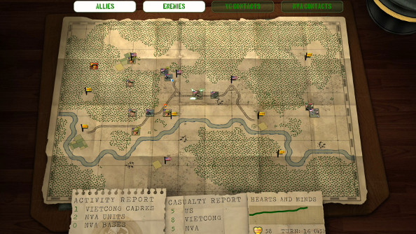 A strategic view from Vietnam 65, presented as an unfurled map on an officer's table.
