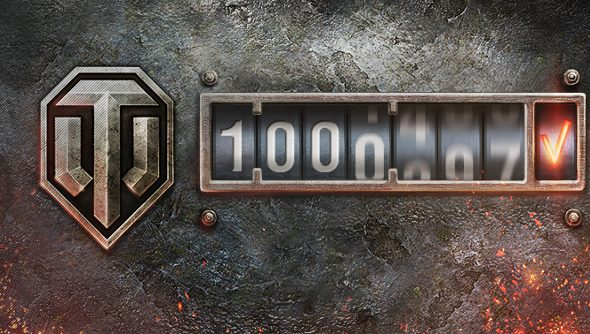 Over a million people played World of Tanks together on the Russian cluster