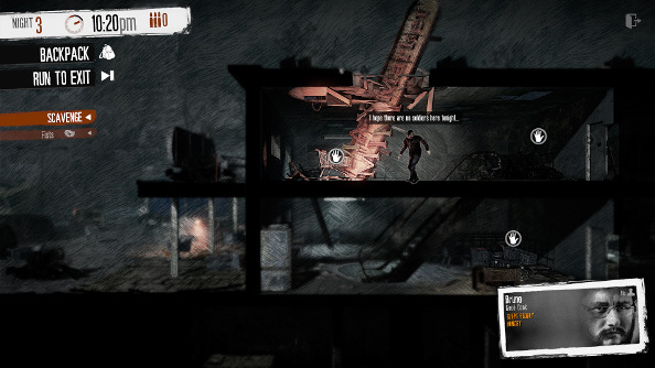 A ruined grocery store in This War of Mine.