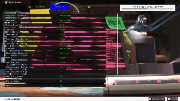 Watch Dogs 2 PC graphics menu