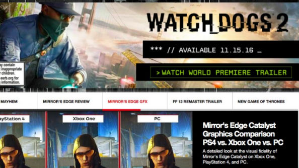 Watch Dogs 2 IGN ad
