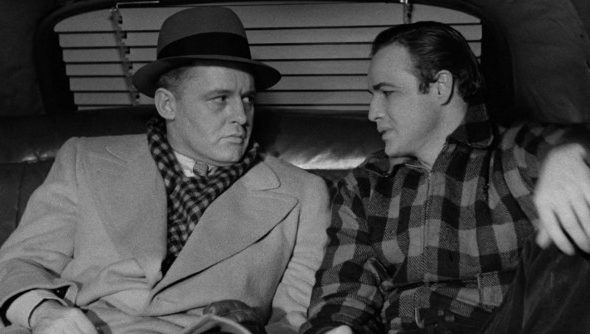 """The famous """"contender"""" speech from On the Water Front, with Brando staring his brother in the eye in the back of a cab."""