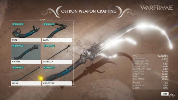 Warframe, Plains of Eidolon, weapons