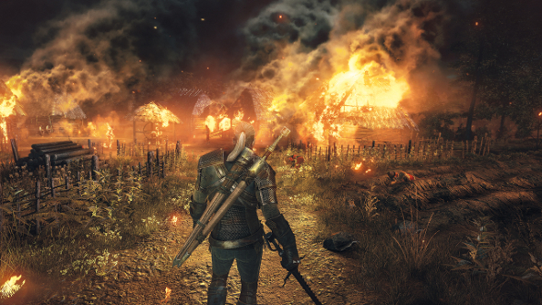 New Witcher 3 trailer flaunts Geralt's pretty eyes. UPDATE: now with cliffs and wolves