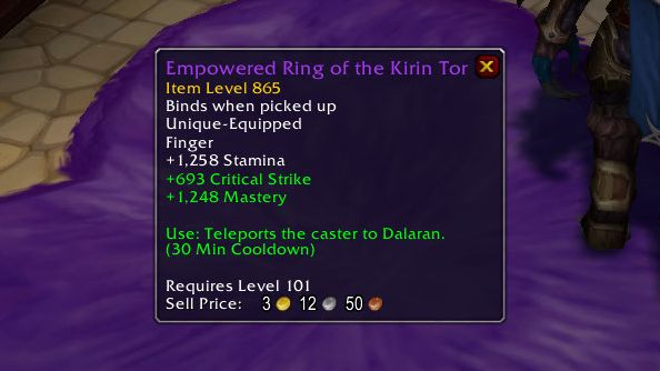 WoW legion ring
