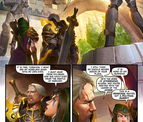 wow battle for azeroth windrunners comic three sisters