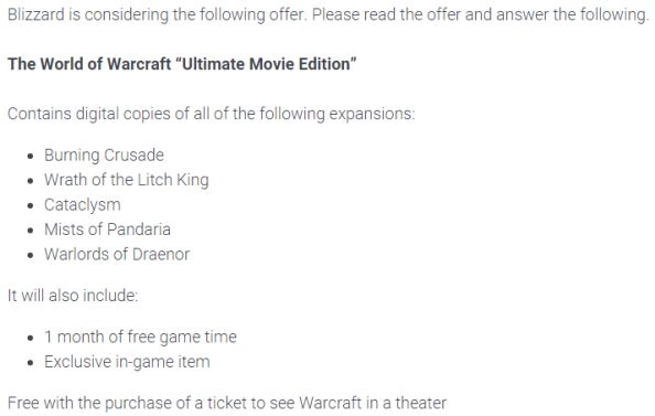 WoW ultimate movie edition