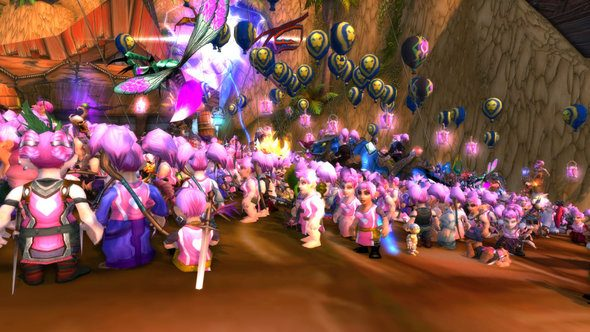 World of Warcraft WoW Running of the Gnomes 2017 Breast Cancer Awareness Blizzard