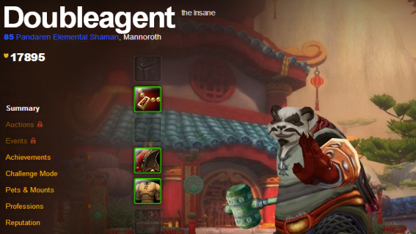 "World of Warcraft player hits 85 on his ""neutral"" Pandaren; aims for 90"