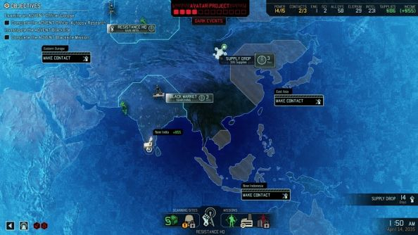 "XCOM 2 geoscape offers commanders between ""three and seven decisions"" at once"