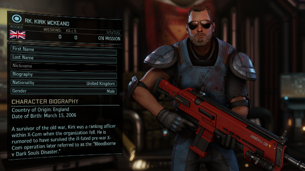 XCOM 2 squad Kirk