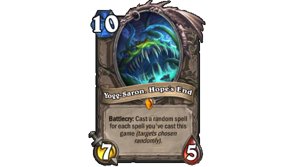 Best Hearthstone Legendary cards Yogg-Saron, Hope's End