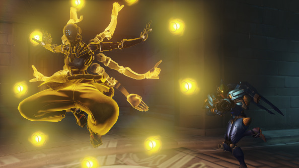 Zenyatta surrounded by his orbs.