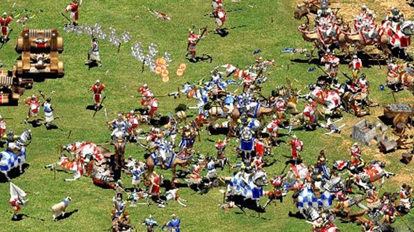 Age of Empires 2: HD Edition patch fixes most the things. Increases frame rate by 500%